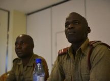 Members of U.S. Africa Command's (AFRICOM) public affairs team gathered with public affairs officers (PAOs) from Malawi's defense force and security sector to discuss public affairs best practices as part of Africa Endeavor 2017 at the Umodzi Park Convention Center here August 16-18. AFRICOM photo.