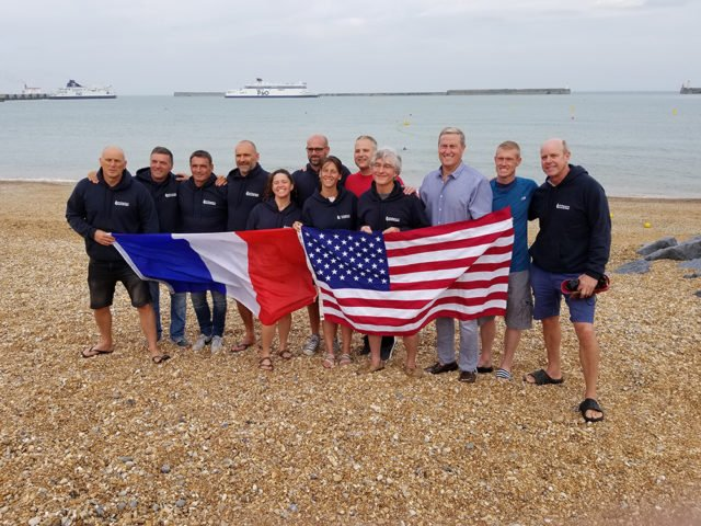 Physical therapist makes swim  across frigid English Channel