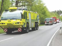 USAG Stuttgart fire trucks on the move. Photo courtesy of USAG Stuttgart  Fire Department