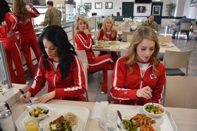KC Chiefs cheerleaders visit USAG Stuttgart