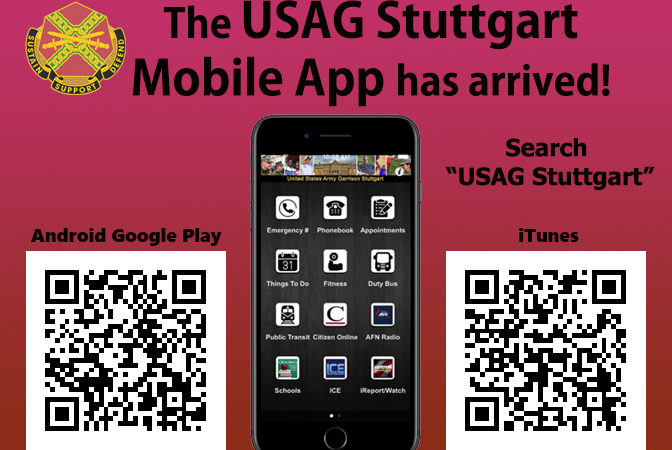 USAG Stuttgart mobile app now available for download