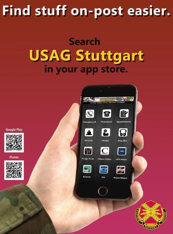 USAG Stuttgart mobile app now available for download