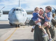 Deployments can be stressful on families; your unit chaplain can help. Photo by USMC Cpl. Koby Saunders