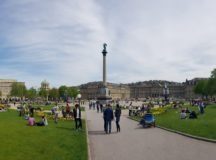 Schlossplatz, Stuttgart, on a beautiful spring day. Photo by Bardia Khajenoori, USAG Stuttgart Public Affairs