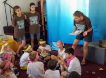 Campers participate in Bible Discovery at VBS
