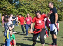 RBES teachers play flag football, get pies in the face
