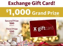 Exchange giving away $2,750 in gift cards