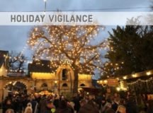 A crowd of people gather at the Deidesheim Christmas market in Germany. Though these festivities are sources of fun and enjoyment, potential risk is always present. force protection officials remind military personnel and their families to exercise caution and stay vigilant through the holidays. Photo by Erinn Burgess, USAG Rheinland-Pfalz