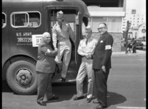 Vintage Army bus photo by Neal Douglass courtesy of the University of North Texas