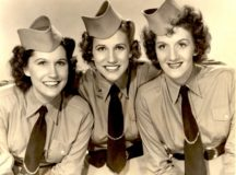 Famous USO performers, the Andrew Sisters, in a World War II publicity photo. Courtesy of the National Archive