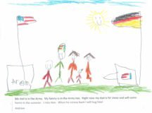 Month of the Military Child 2019 drawing by Andrew Chernina, Stuttgart Elementary School.