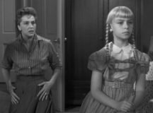 Rhoda and her mother from the 1956 movie version of The Bad Seed.