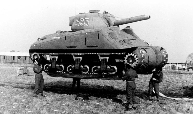 UNITED KINGDOM - CIRCA 1939:  World War II. Rubber tank (decoy) in England.  (Photo by Roger Viollet via Getty Images)