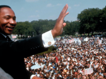 """Dr. Martin Luther King Jr. delivers his """"I have a Dream"""" speech on the steps of the Lincoln Memorial, Aug. 28, 1963."""