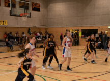 The Lady Panthers play against the Ramstein Royals, Jan. 11.