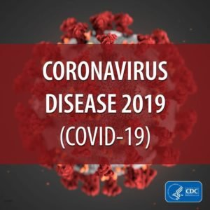 Bacteria with overlaid text saying Coronovirus Disease