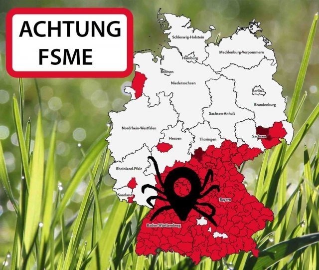 Tick Warning map of Germany