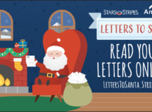 Stars and Stripes accepting letters for Santa