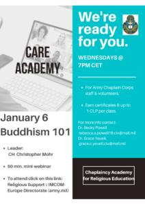 CARE Academy presents Buddhism 101