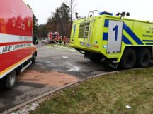 Fire trucks from USAG Stuttgart supported host nation emergency responders