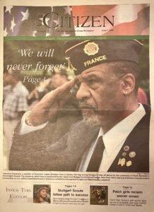 Legacy of a lifetime: Citizen cover photo captures veteran's essence, marks his grave