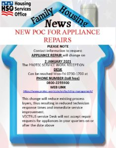 Domestic appliance repair contract changes to PROTEC