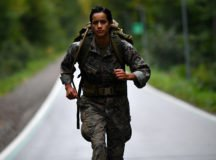 Marine Sgt.Margarita Valenzuela participates in a ruck march on Panzer Kaserne LTA. November 2020. Photo by Rey Ramon - TSC Stuttgart