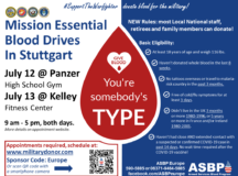 Donors needed at mission essential blood drives July 12-13