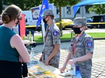 Civil Air Patrol representatives at the CARE Fair