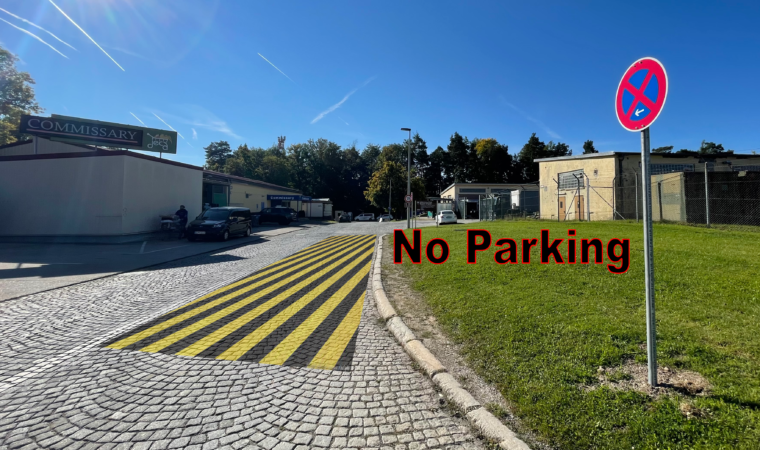 Panzer Commissary parking restrictions enforced