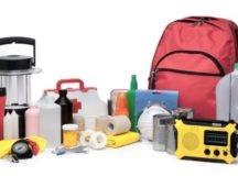 An example of an emergency supply kit.